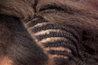 Image of African American hair extensions