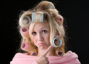 Woman wishing for drastic hair makeover