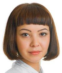 Brunette with bob hairstyle
