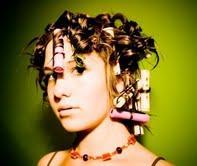 hair in rollers