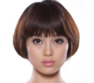 Blunt bob hairstyle