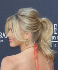 Puffed-up ponytail Julianne Hough