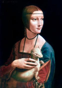 Portrait of Cecilia Gallerani wearing a barbette