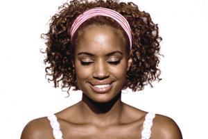 woman wearing headband