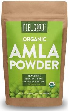 Organic Amla Powder - 16oz Resealable Bag (1lb) - 100% Raw From India - by Feel Good Organics