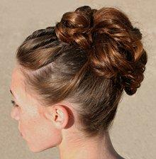 Chic updo hairstyle for a special occasion