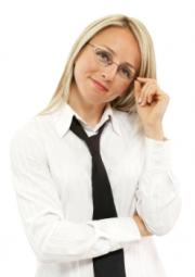 Business woman with simple hair style