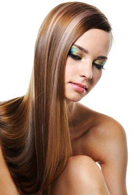 A flat iron can create a sleek look like this.