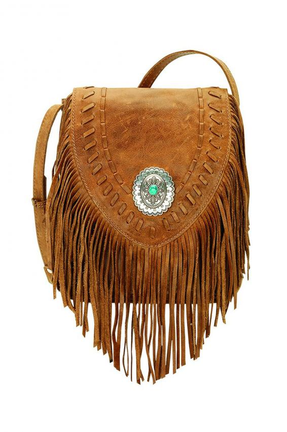 American West Seminole Collection Soft Crossbody Fringe Bag