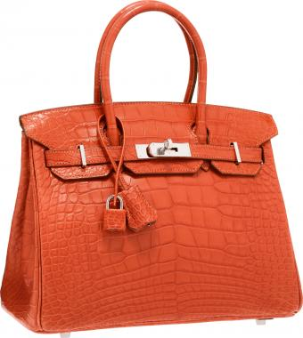 Hermes Matte Sanguine Alligator Birkin Bag