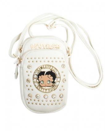 White Betty Boop Rhinestones Crossbody Bag