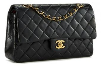 Pre-owned Chanel Black Quilted Lambskin Classic Double Flap Medium
