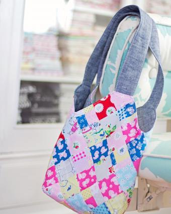 Handmade patchwork tote