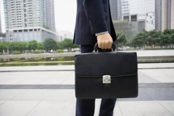 Man carrying an attache case