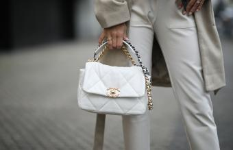 Chanel white bag