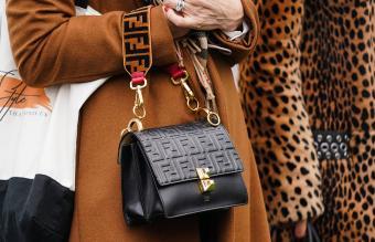 Black Fendi bag