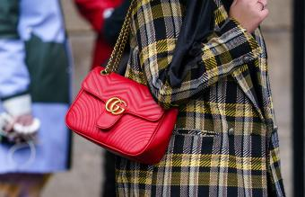 red quilted Gucci bag