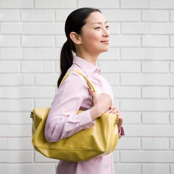 woman with a purse
