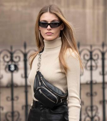 Model wears a Alexander Wang bag