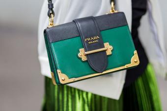 Close-up Prada bag