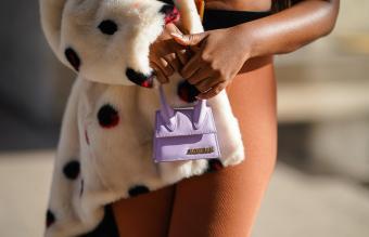 purple mini Jacquemus bag