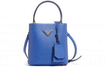 Prada Small Saffiano Leather Panier Bag