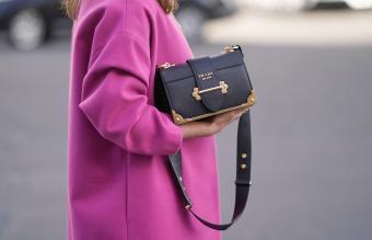 Leather Prada Cahier Bag