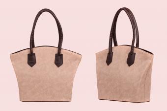 Nubuck, leather elegant women bag