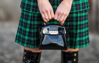 Patent leather mini purse