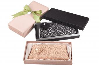 Luxury purses in a beautiful boxes