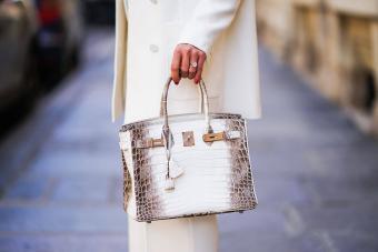 Hermes Himalayan Birkin crocodile skin leather bag