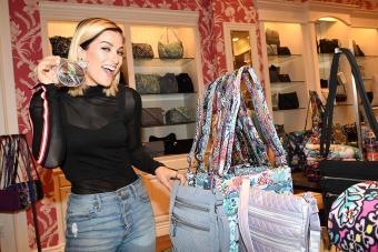 Singer Cassadee Pope poses during the Vera Bradley x Cassadee Pope Shop / Getty Editorial Use