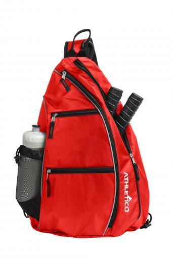Red pickleball sling bag