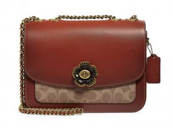 COACH, Madison Signature Coated Canvas & Leather Shoulder Bag