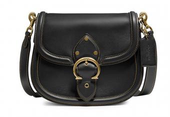 COACH Beat Leather Saddle Bag