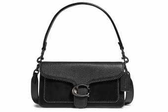 COACH, Tabby Bead-Trim Suede & Leather Shoulder Bag