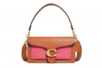 COACH, Tabby Colorblock Leather Shoulder Bag