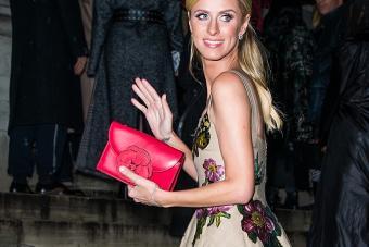 Nicky Hilton with Oscar de la Renta handbag - Getty Editorial Use