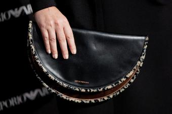Roberta Armani (handbag detail) attends Emporio Armani boutique opening on April 8, 2013 in Madrid, Spain - Getty Editorial Use