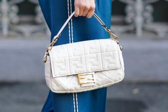 White Fendi bag - Getty Editorial Use