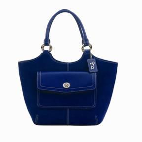 Blue Suede Felicia Bolzano Handbag