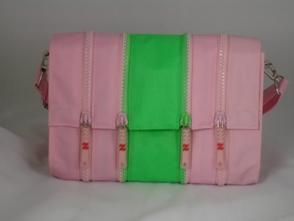Pink and lime colored ZPR handbag