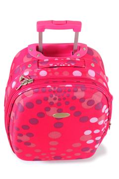 Unique pink and purple polka dot suitcase