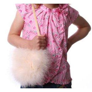 pink girls' feather purse