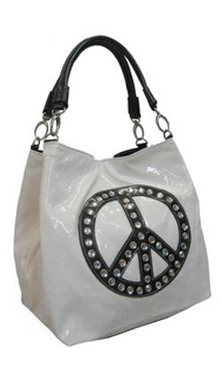 Peace sign bag