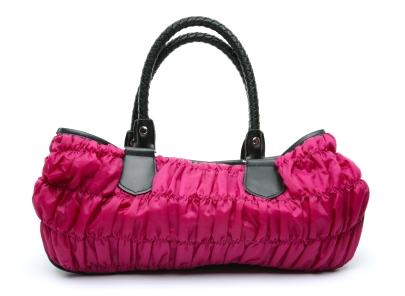 pink fashion handbag
