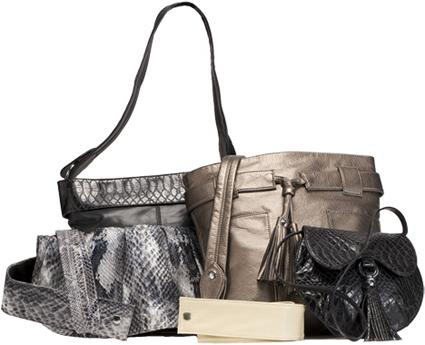Lauren Joy Black Faux Leather Tricia Main Handbags