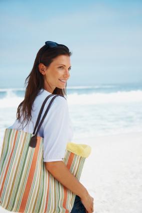 Woman with giant bag