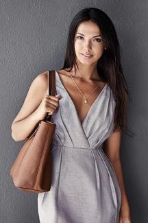 Woman with over shoulder bag