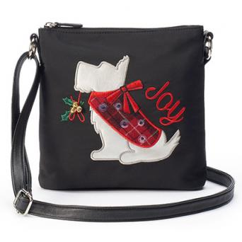 Rosetti Holiday Dog Crossbody